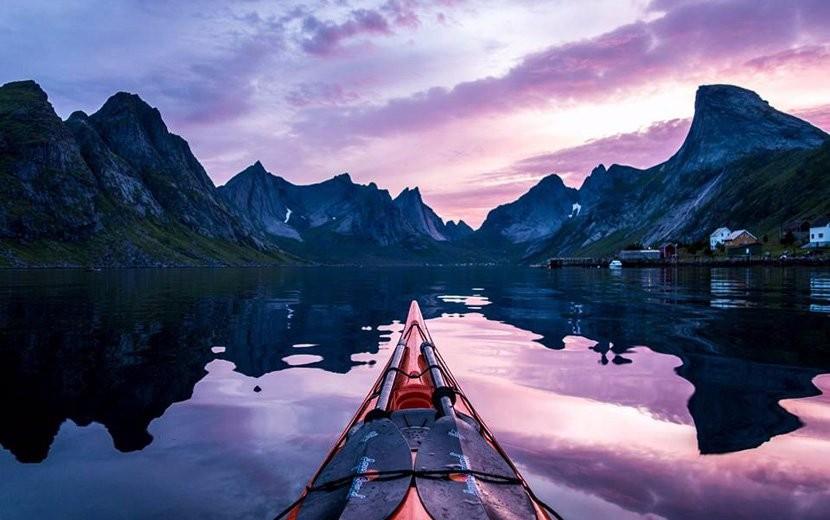 独木舟上的风景 带你领略挪威峡湾壮美