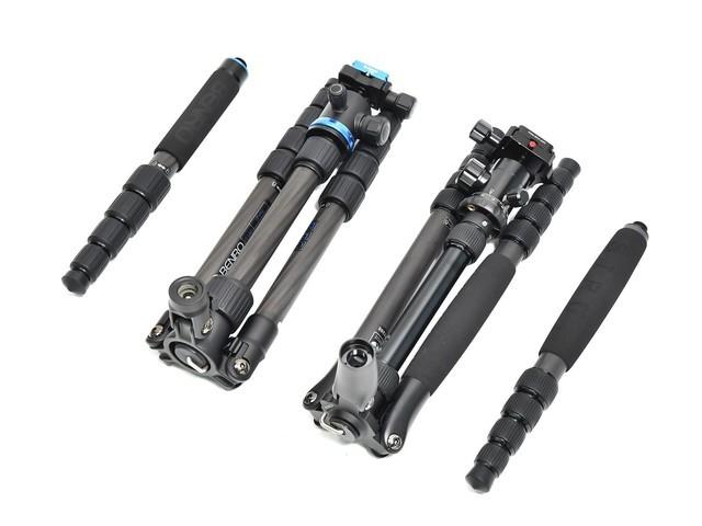 两款云台都支持拆除脚管变成独脚架。