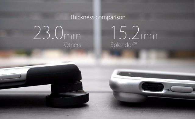 它最大的特点就是可以一键更换手机的镜头。