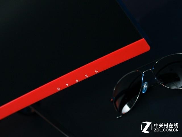 经典黑红配色 航嘉X2772CK电竞显示器美图