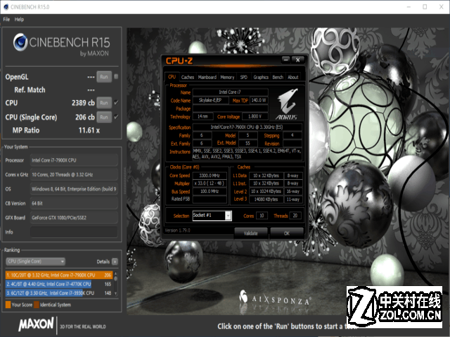 一分钟了解CPU性能 酷睿i9-7900X评测
